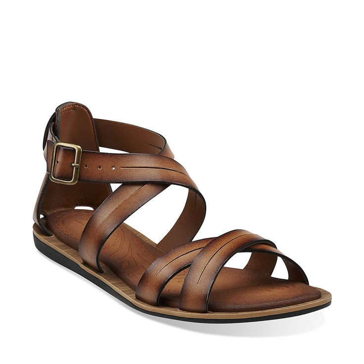 Billie Jazz in Honey Synthetic - Womens Sandals from Clarks.