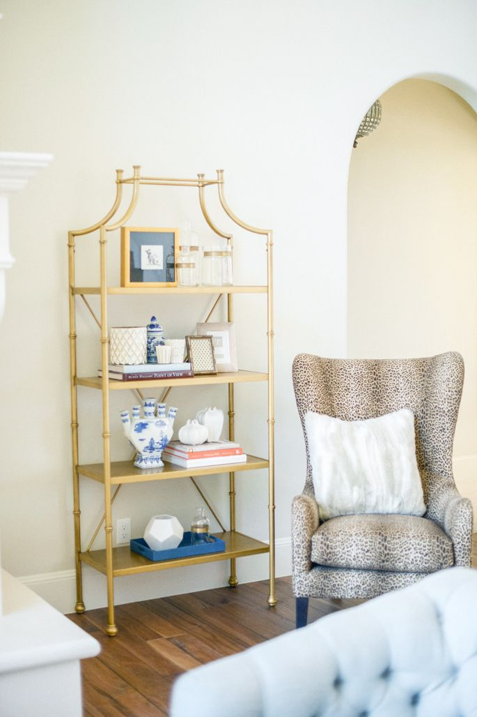 the chair, the etagere