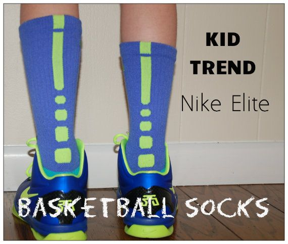 Kid Trend alert: these kooky looking basketball socks: Nike Elite So true!  Girls and boys alike can wear these. Also Skyline socks.
