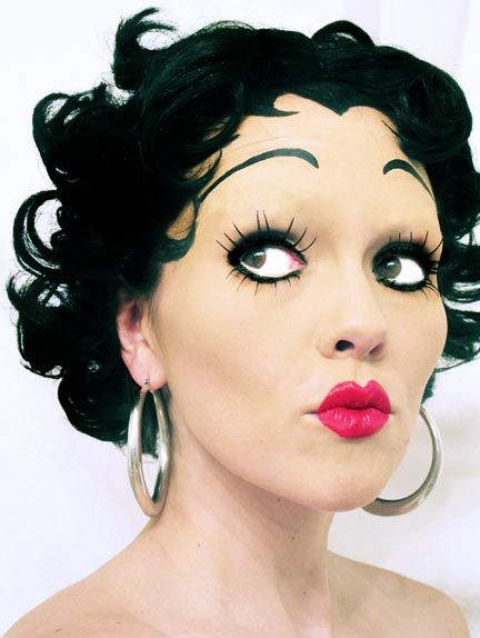 Betty Boop Makeup and my other top 5 costume make-up looks: Barbie, Snow White, Edward Scissorhands, and The queen of Hearts- pin now, have fun looking later..... kandeej.com