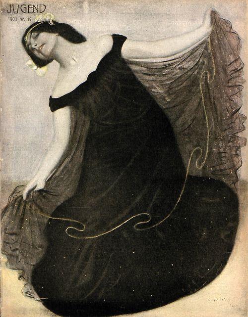 zombienormal:  Eugen Spiro, Jugend magazine cover art, 1903. Via.