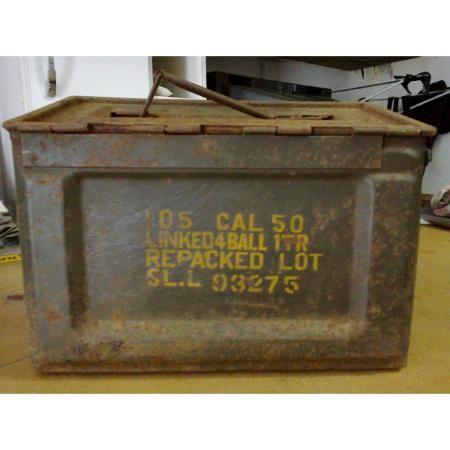 Antiga Caixa De Munição Ww2 Calibre .50 - Exército American R$ 180.0 - Garimpo Urbano