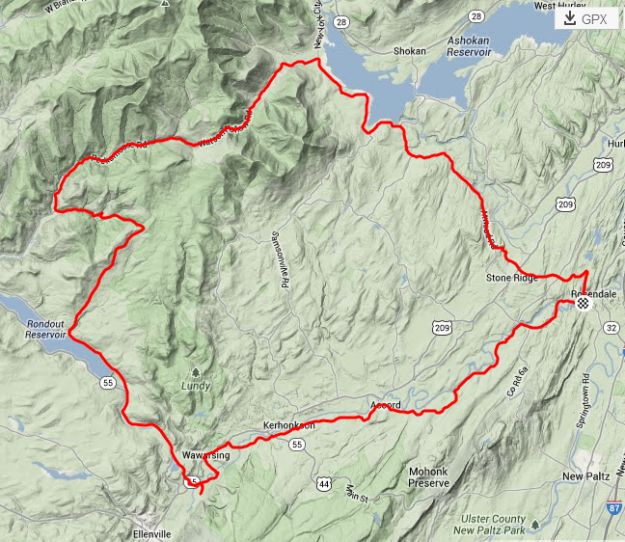 Catskills riding GPX files to download