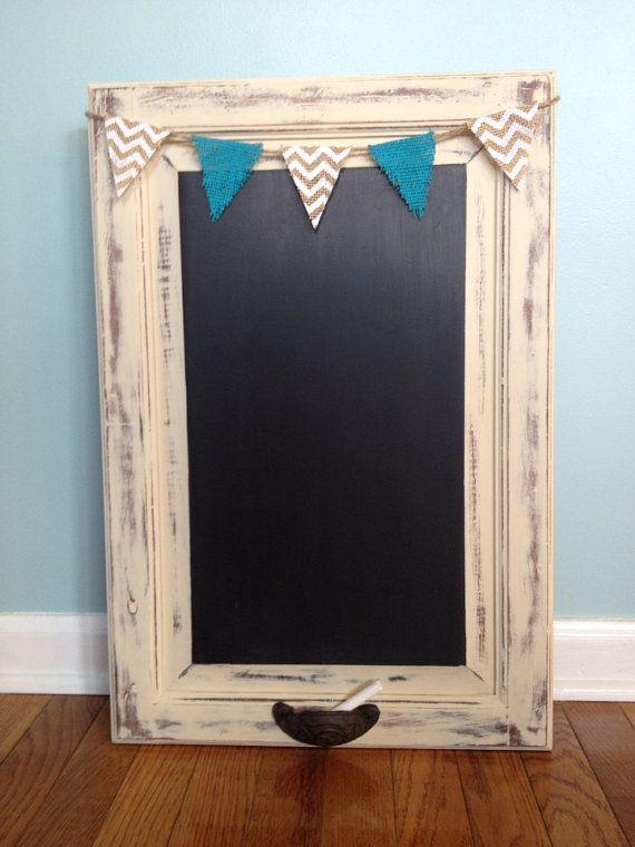 Custom order chalkboard repurposed cabinet door by tarashea22
