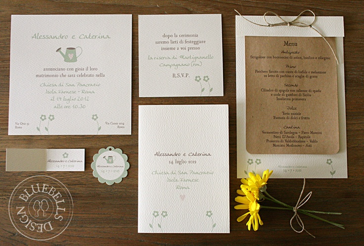 "BluebellsDesign: ""country"" wedding stationery"