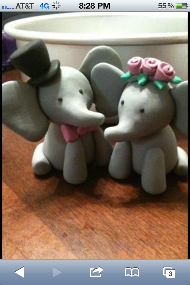 Cool elephants made of clay