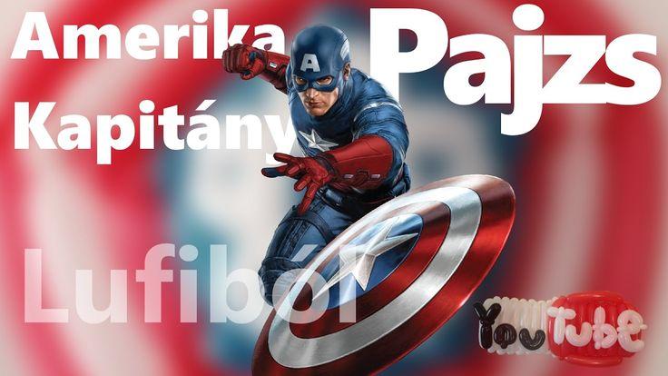 Twisted balloon Captain america shield