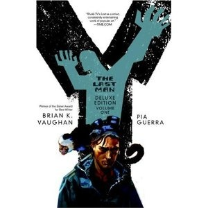 Y: the last man standing, is sooooo good. i hear they will be making a movie. read all of it! do it!