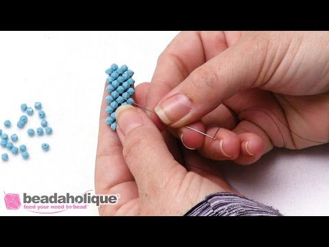How to Tie off and Add New Thread in Right Angle Weave - YouTube