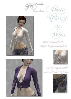 **Special** Butterfly Motif Tied Top with 8 Designs Hud