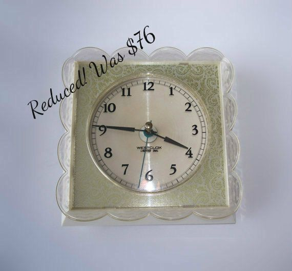 Vintage Westclox Lighted Dial Kitchen Clock by MargsMostlyVintage, $63.00