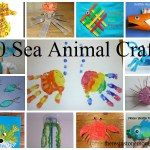 Colleciton of sea animal crafts for kids ages 3 - 6.  Great for after a trip to the local aquarium!