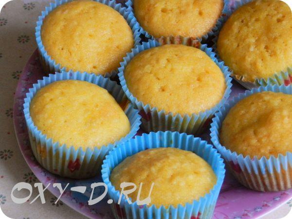 Тыквенные кексы с кокосом