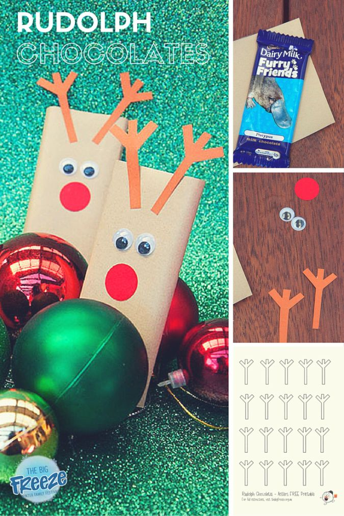 Rudolph Chocolates by The Big Freeze - the perfect gift for lil' school or kinder friends this Christmas