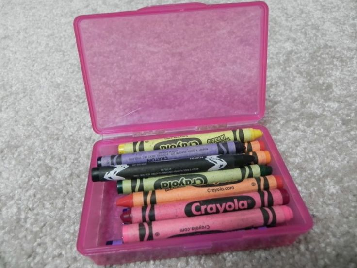 Keep crayons together in a soap container.