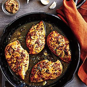 Maple-mustard glazed chicken. This recipe has perfect reviews.
