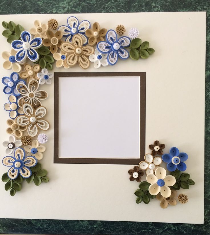 Quilled Frame for Shadow box by Ginny Huff