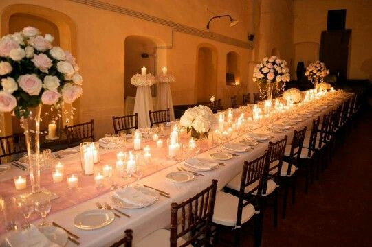 #Candles and #flowers for the most important moment of your life! A #weddingdinner full of #emotions and #romance . #santoriniisland #santorini #Catering #events