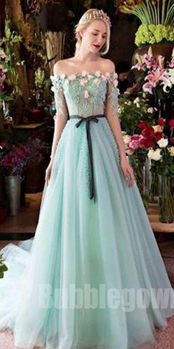 31dec82fc79 Off the Shoulder Charming Half Sleeves Long Evening Prom Dresses, BGP043  #promdress #promdresses #longpromdress #longpromdresses
