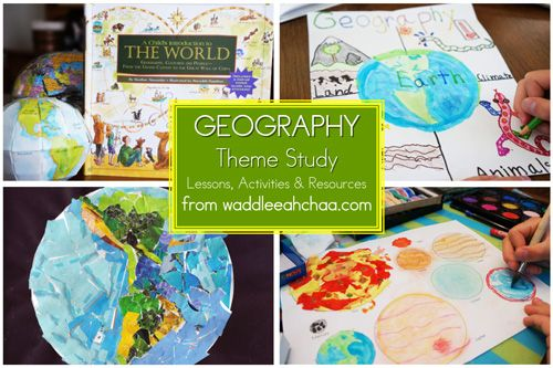 Geography for Kids Series - 9 weeks - step-by-step lessons, FREE printables, activities, books and resources from waddleeahchaa.com