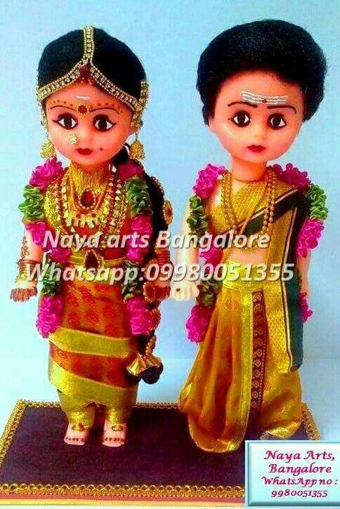 Cute Iyer Bride and Groom Dolls.....