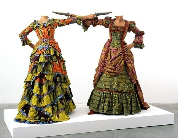 Wow! 1800s style dress made from african wax print fabric!