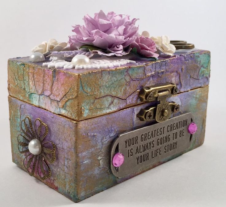 Sew pretty a needlework themed mixed media, hand decorated trinket / keepsake box, the perfect little gift