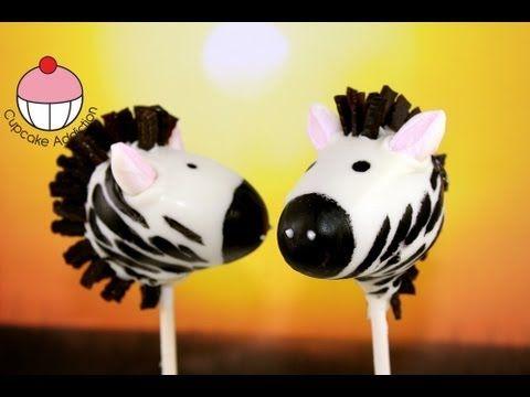 Make Zebra Cake Pops - Jungle / Safari Party Ideas - A Cupcake Addiction How To Tutorial - YouTube