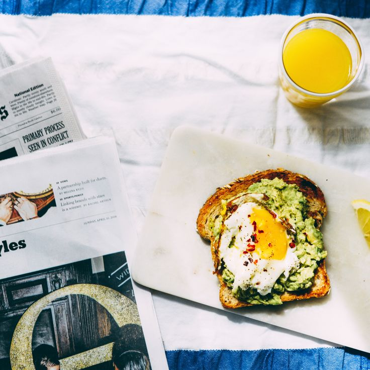Avocado toast with egg.