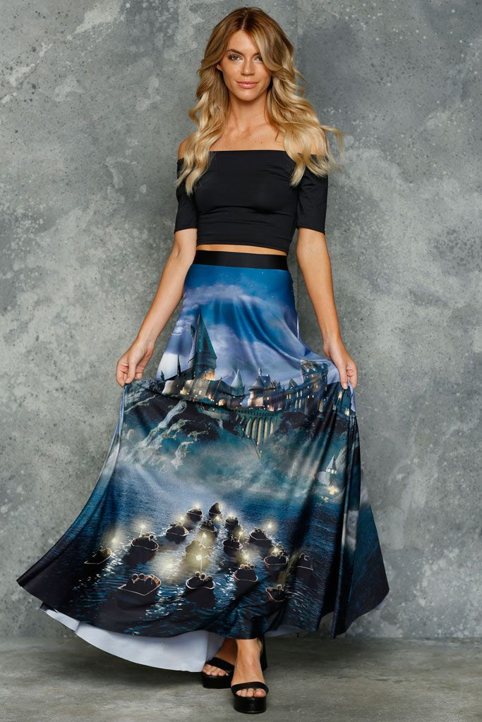Great Lake Maxi Skirt ($130AUD) by BlackMilk Clothing