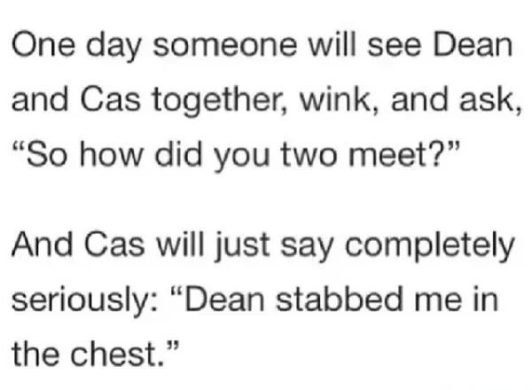 """""""and he shot me a few times"""" """"cas"""" """"i first talked to him in a gas station but it didn't turn out well"""" """"cas"""" """"i broke all the windows"""" """"cas"""" """"i think it really started when i got him from hell"""" """"CAS"""" <--- THIS OMFG"""