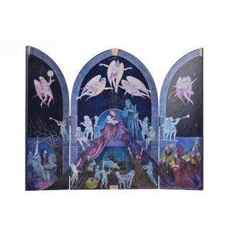 Tríptico Sagrada Familia artista Mario Eremita   venta online en HOLYART