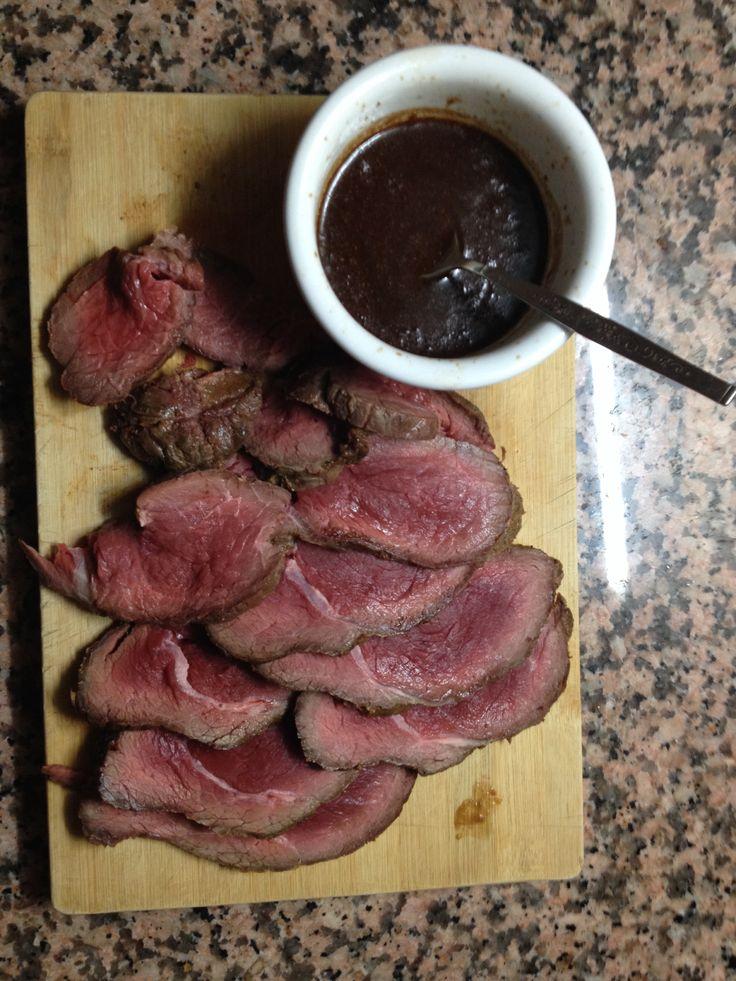 Roastbeef y salsa de vino tinto