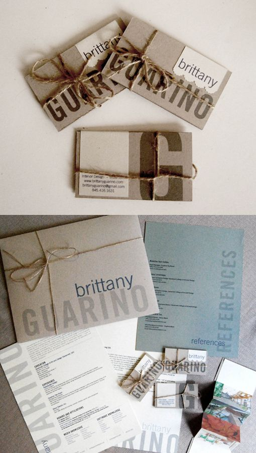 Earth Friendly Identity Card And Modern Sophisticated Arts Crafts An Package For Interior Design Student Brittany Guarino