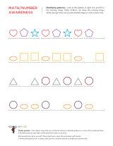 Free kindergarten pattern worksheets to introduce children to pattern activities like completing basic patterns and repeating complex patterns