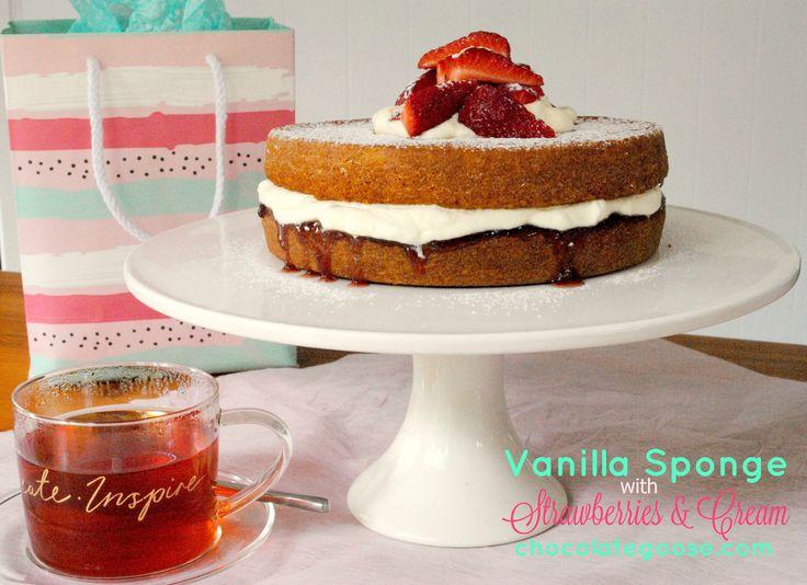 Traditional Vanilla Sponge Cake - Powered by @ultimaterecipe