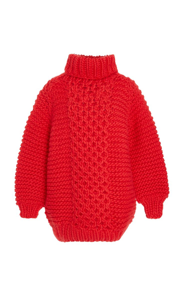 Red Wool Sweater by I LOVE MR. MITTENS Now Available on Moda Operandi
