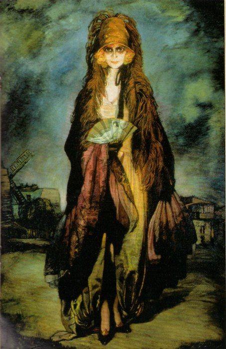Marchesa Casati Oil by Ignacio Zuloaga, 1922 ~Repinned Via Jelena Rizvanovic