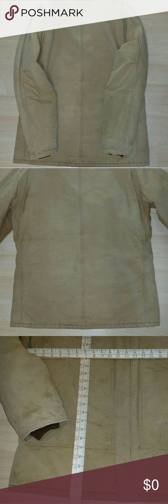 More pictures of Carhartt coat See other listing to purchase.... Coat has been well laundered clean & ready-to-wear... From a smoke-free home... See pictures for measurements as well... Carhartt  Jackets & Coats