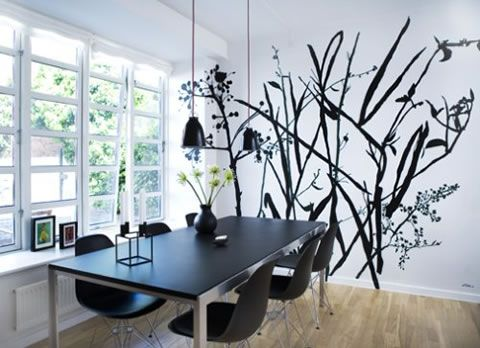 Arte y arquitectura dibujos para decorar paredes - Pintura comedor moderno ...