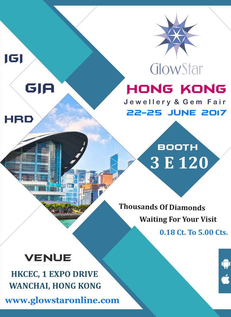 GlowStar Invites You In Hong Kong Jewellery & Gem Fair, Show Has Been Already Started ! Hurry Up To Grab The Opportunity of Amazing Prices & Great Quality Of #GIA #IGI #HRD #Certified #Diamond & #Loose #Diamonds, www.glowstaronline.com
