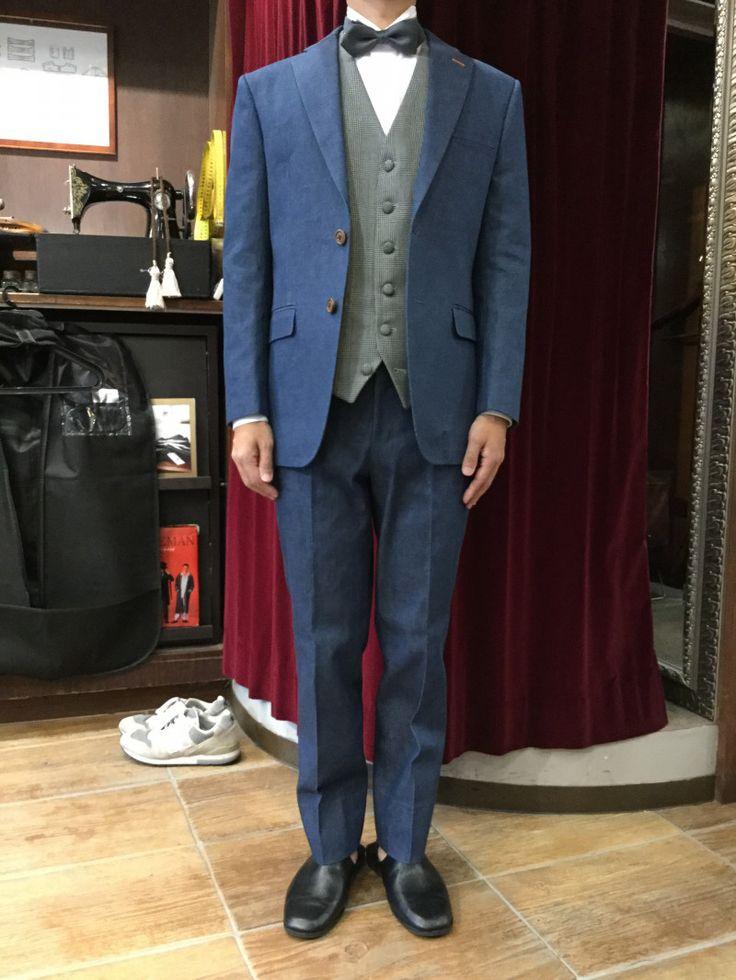 【人気のデニム衣装】|結婚式の新郎タキシード/新郎衣装はメンズブライダルへ