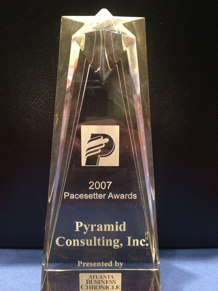 Pacesetter - 2007 In 2007, Pyramid Consulting, Inc. was recognized as one of the fastest growing companies in Atlanta by earning the Atlanta Business Chronicle Pacesetter Award.  http://www.bizjournals.com/atlanta/