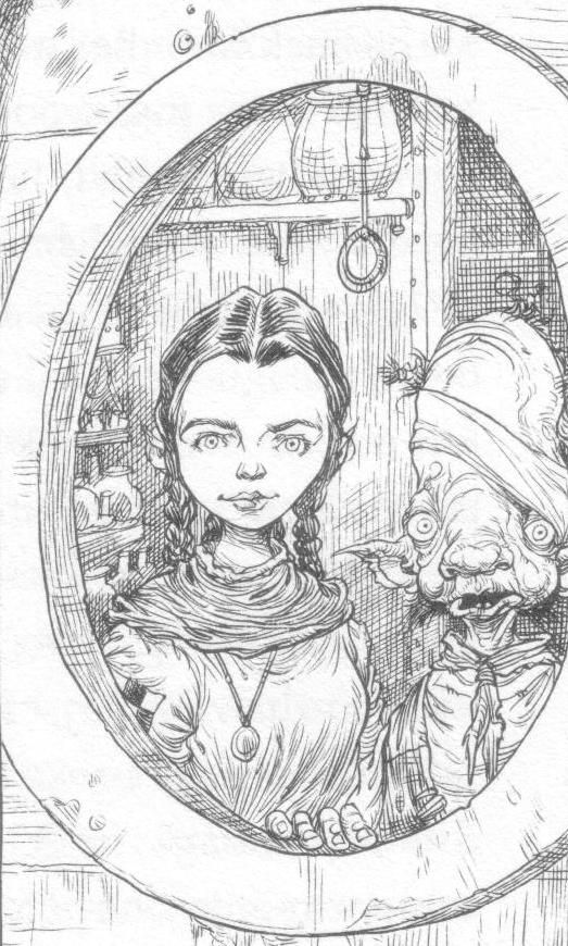 Maris, from Chris Riddell and Paul Stewart's series The Edge Chronicles #edgechronicles #illustration #porthole