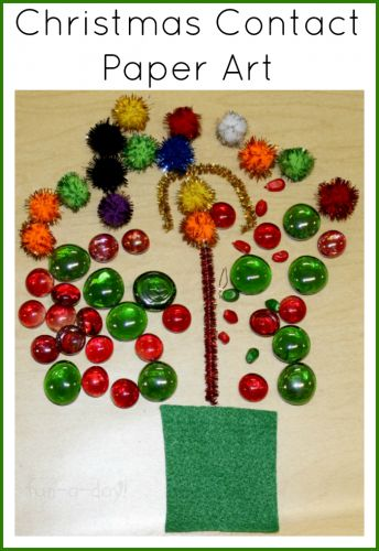 Christmas Contact Paper Art - A Seasonal Sticky Table
