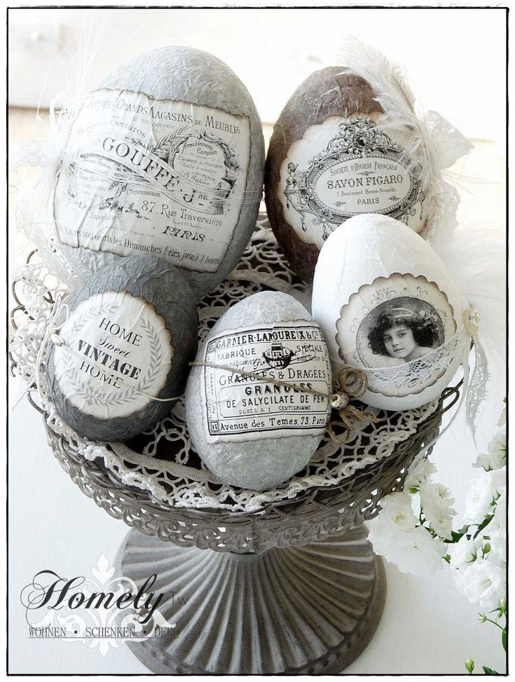Ostereier im Vintagestyle