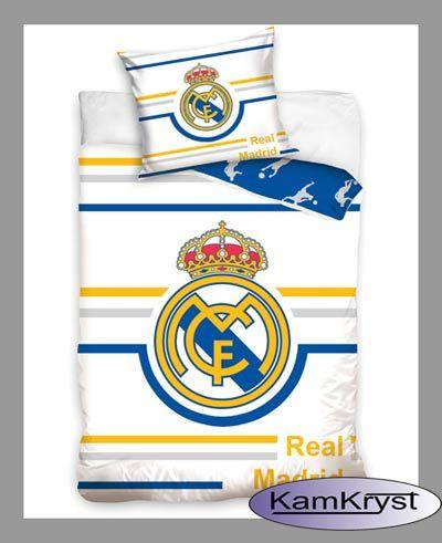 Nowy wzór pościeli w barwach Realu Madrid - pościel bawełniana 160x200 - pościel dla fana Realu Madyt #real_madrid #ronaldo #real_madrid_bedding