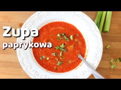 Zupa z pieczonej papryki przepis | Kotlet.TV