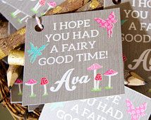 Woodland Fairy Favor Tags- Fairy Favor Tags- Hope you had a fairy good time…