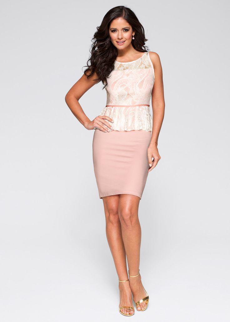 Bekijk nu:Vrouwelijk model jurk met kanten lijfje met mooi schootje en aansluitend rokgedeelte.